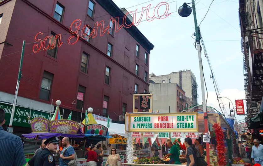This photo is courtesy of the Feast of San Gennaro.