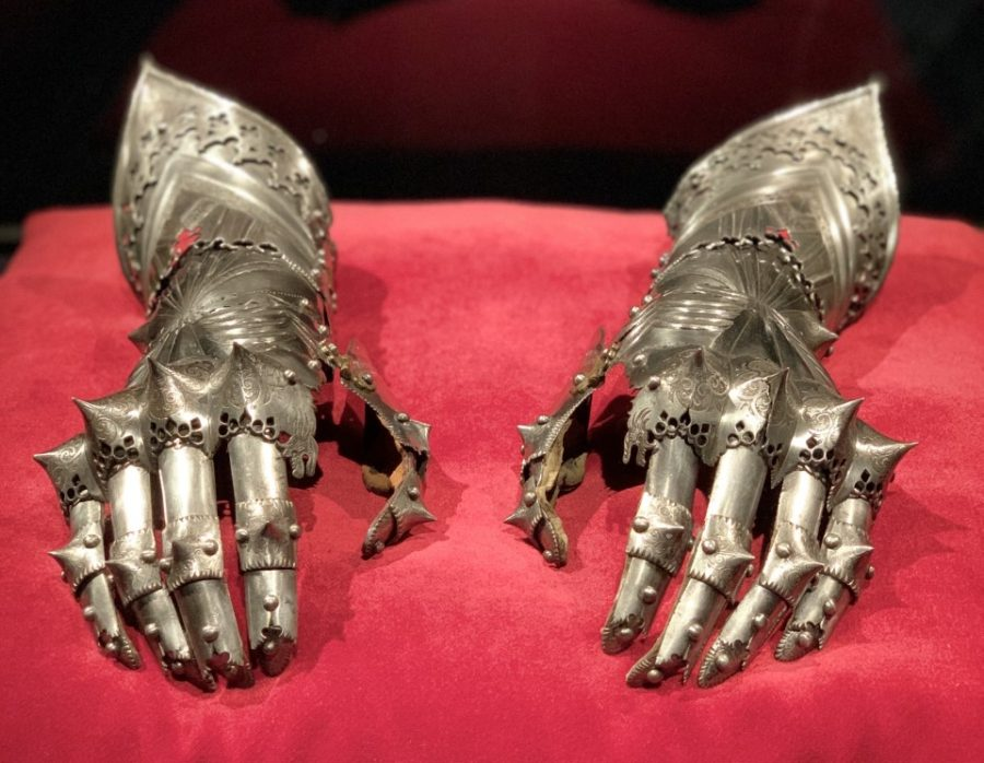 This photo is a set of gauntlets for Maxi- milian from 1499