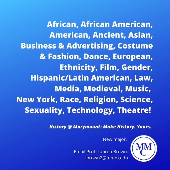 New+History+Major
